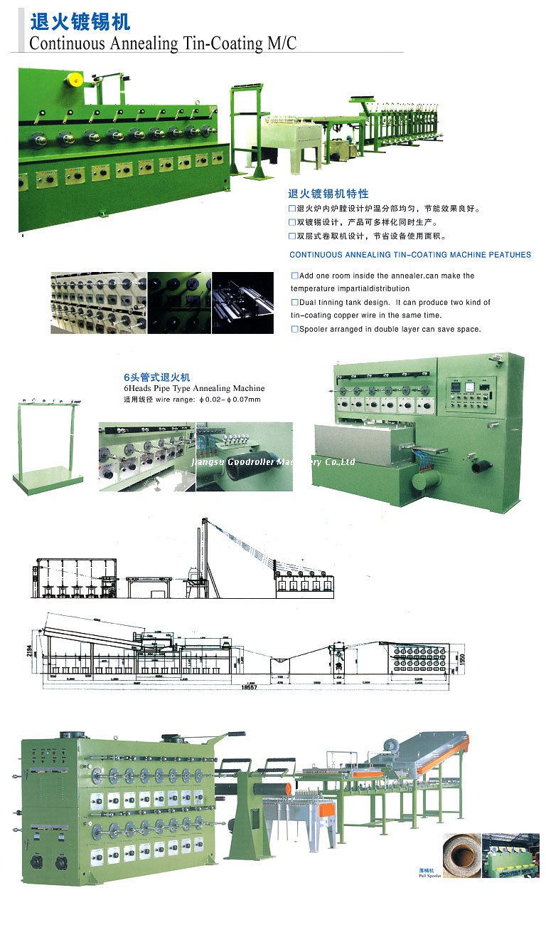 Continuous annealing tin-coating machine