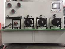 Multi spool rewinding machine